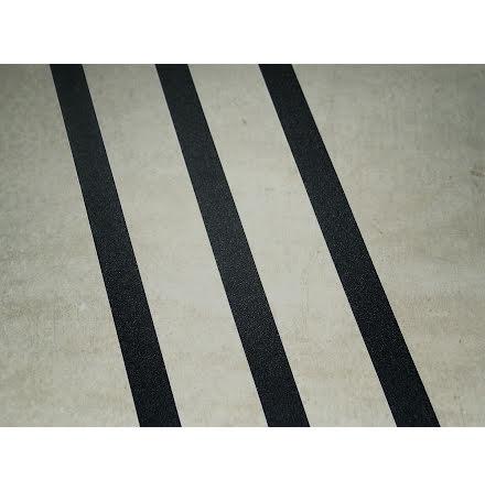 Svarta kontrastlinjer för golvmarkering ränder 3st x25mm bredd