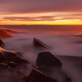 Sunset at Hvaler by Morten Pettersen - Landscapes Sunsets & Sunrises ( hvaler, rødshue, waterscape, sunset, kirkøy, norway )