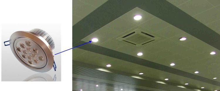 Trang trí không gian với mẫu đèn âm trần