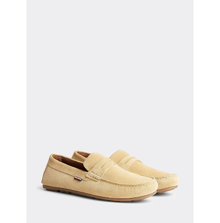 Suede Penny Loafers, classic khaki