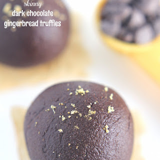 Dark Chocolate Gingerbread Truffles