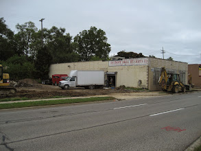 Photo: Parking lot being leveled