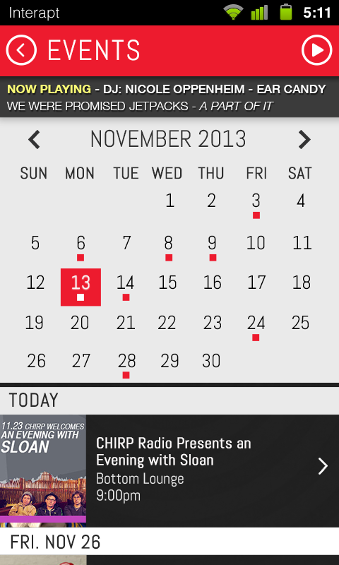 CHIRP Radio- screenshot