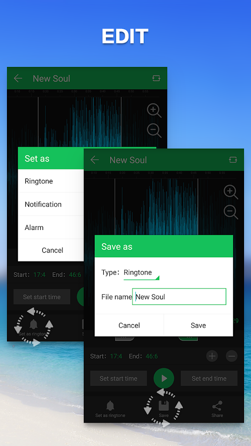 Screenshots of Ringtone Maker Mp3 Editor for iPhone