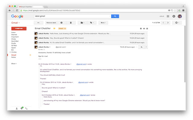 Email Chattifier