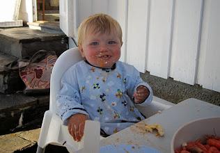 Photo: Soren loves his food, too!