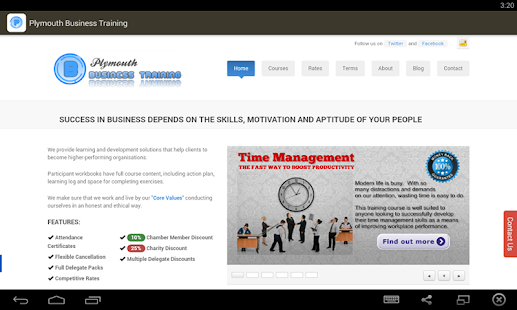 Plymouth Business Training- screenshot thumbnail