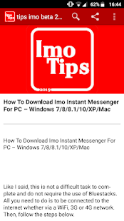 Free tips and guide for imo for PC / Windows 7, 8, 10 / MAC