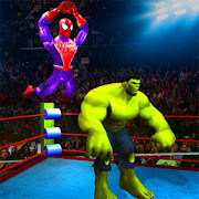 Superhero Wrestling Battle Arena Ring Fighting