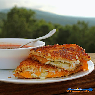 Jalapeno Pepper Jelly Grilled Cheese Sandwich.