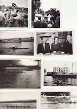 Photo: 1950-erne. Øverste to fra Kanindåben. 1. billede 2. række: Arne Bentzen. 2. billede, 2 række: John Søgaard, Flemming Bøgh Jørgensen og Norman Andersen. 3. billede 3. række ottertræning foran Odense Stålskibsværft.