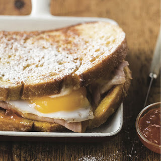 Caramelized Monte Cristo Recipe With Fried Egg.
