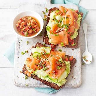Healthy Salmon Avocado Sandwich (On Rye).