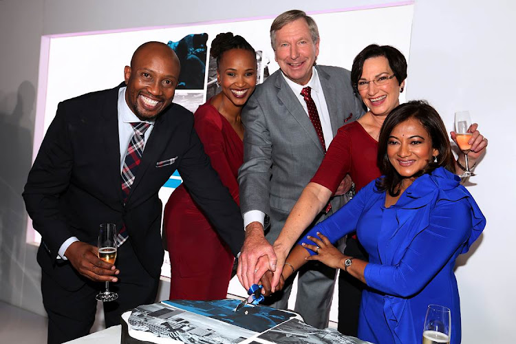 The Carte Blanche team celebrating the show's 3-decade run on air.