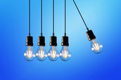 5 light bulbs.