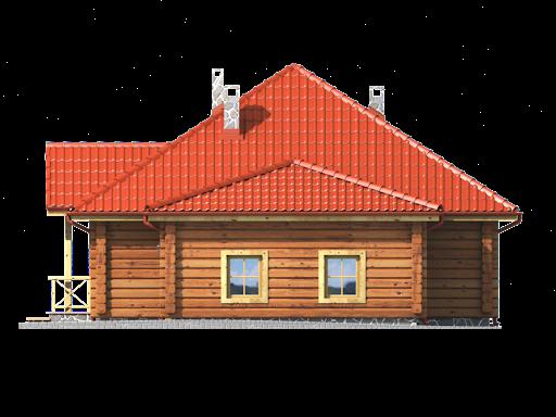 Dębina z garażem - Elewacja prawa