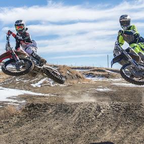 Double Scrub by Zachary Zygowicz - Sports & Fitness Motorsports ( scrub, motocross, racing, dirtbike, whip )