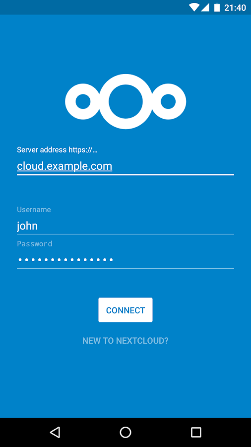 Nextcloud- screenshot
