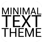 Minimal Black Text THEME FREE