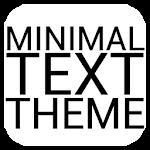 Minimal Black Text THEME FREE 1.0.1