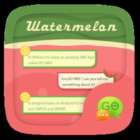 GO SMS PRO WATERMELON THEME