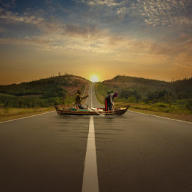 Fisherman by Muhammad Ikhsan - Digital Art People ( digital manipulation, landscape )