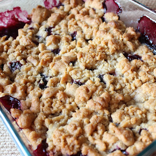 Blueberry Apple Crumble.