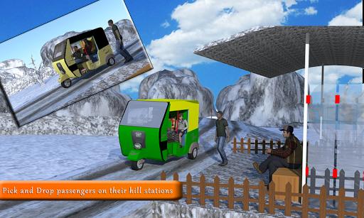 山のトゥクトゥク三輪タクシー