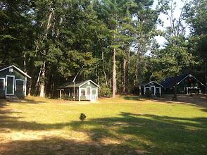 Photo: Juniors cabin towards the bathhouse.