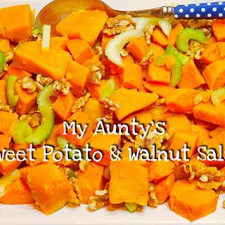 My Aunty's Sweet Potato & Walnut Salad.