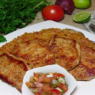 Spanish Pork Tenderloin with Salsa.