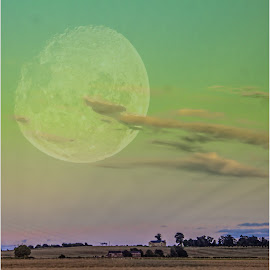 big moon by Sandy Crowe - Landscapes Sunsets & Sunrises