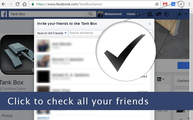 Invite All Friends on Facebook Chrome Web Store