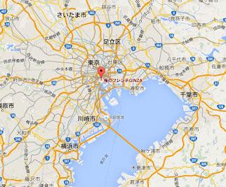 地図:俺のフレンチ 銀座本店