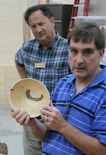 Photo: Tim Aley got some great hunks of maple and turned a number of pieces -- this smaller bowl has some nice markings.