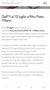 Milano Unica- screenshot thumbnail