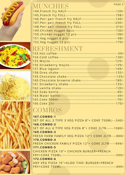 Pizza World menu 5