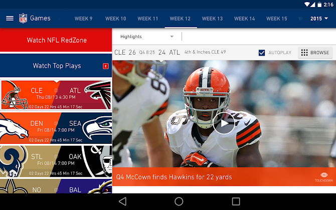 NFL Mobile Android 9