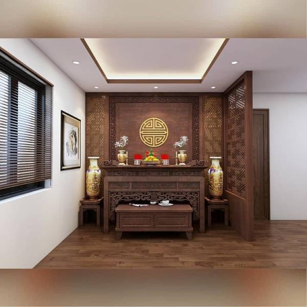 Mẫu bàn thờ đẹp tại bàn thờ Hòa Phát