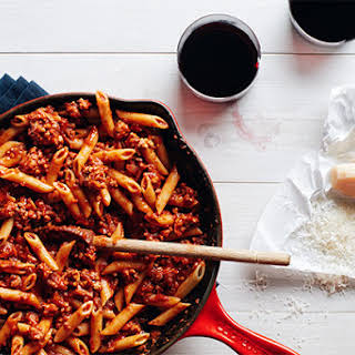 Pasta With 15-Minute Meat Sauce.