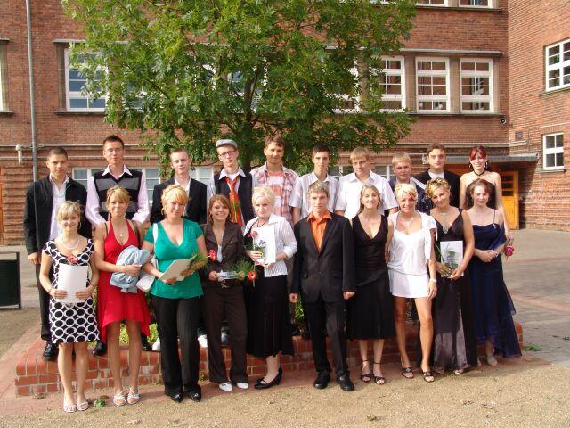 Foto: Klasse 10a Abschlussfoto Juli 2008