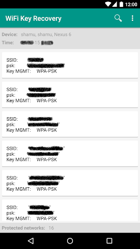 [ROOT] Wifi key recovery Version 0.2 screenshots 1