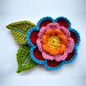 Knitting crochet flowers