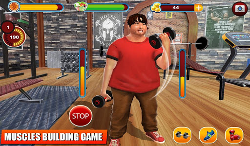 Fatboy Gym Workout: Fitness & Bodybuilding Games filehippodl screenshot 13