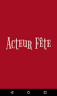 Acteur Fête- screenshot thumbnail