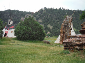Photo: Day 23 Lusk WY to Hot Springs SD 93 miles, 2300' climbing: Teepee Camping area in Joe Allen's Camping / RV park