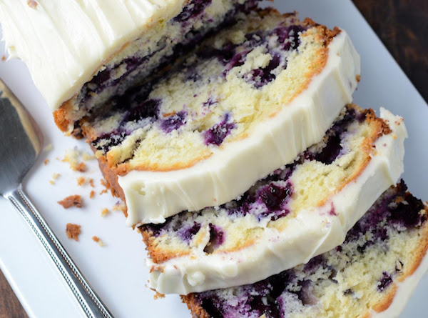 Blueberry Lime Cream Cheese Pound Cake Recipe