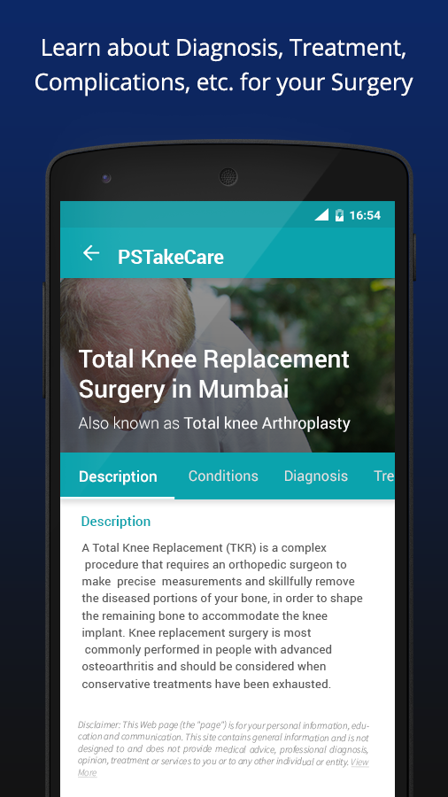 PSTakeCare Surgery Health App Android Apps on Google Play – Orthopedic Surgeon Description