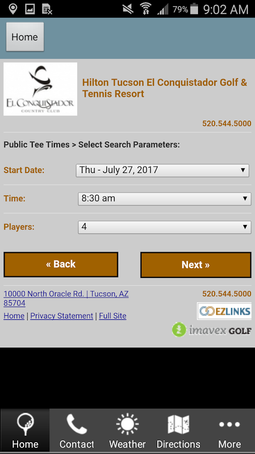 El Conquistador Golf & Tennis- screenshot
