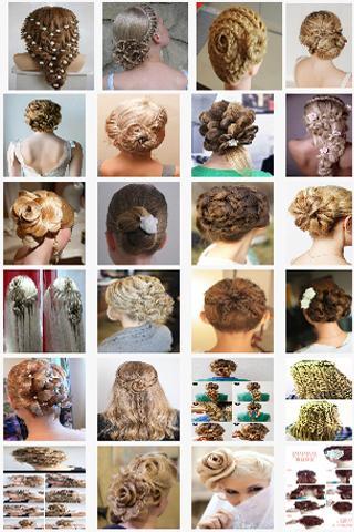 花のヘアスタイル